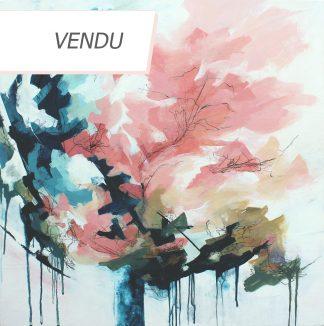 Résilience, peinture contemporaine abstraite de Vanessa Lim (vendu)
