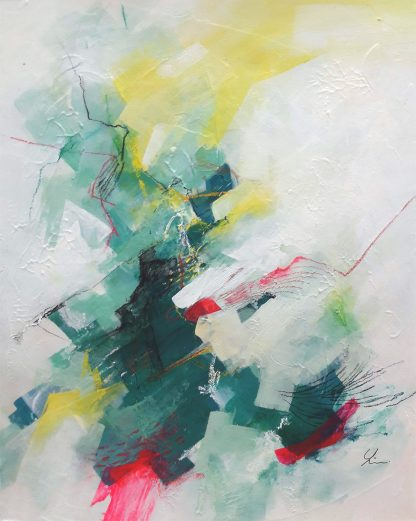 Get home, peinture contemporaine abstraite de Vanessa Lim