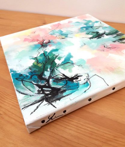 Pure joie, peinture contemporaine abstraite de Vanessa Lim