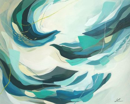 Soon we'll be found, peinture contemporaine abstraite de Vanessa Lim