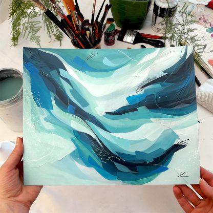 Silent sea, peinture contemporaine abstraite de Vanessa Lim
