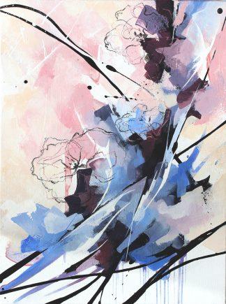 Rêverie, peinture contemporaine abstraite de Vanessa Lim