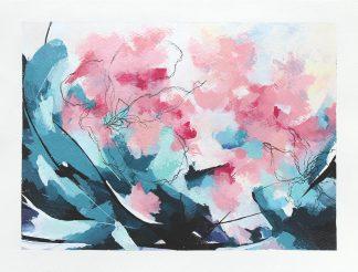 Pour un sourire de toi, peinture contemporaine abstraite de Vanessa Lim