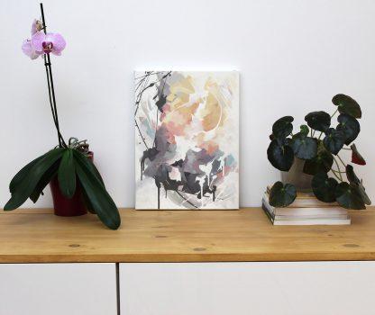 Réconfort, peinture contemporaine abstraite de Vanessa Lim