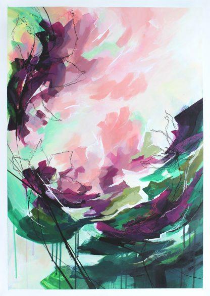 Symphonie, peinture contemporaine abstraite de Vanessa Lim