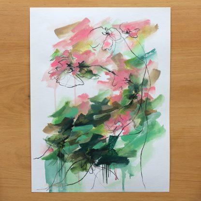 Collection-Jardin secret-Peinture 2, peinture contemporaine abstraite de Vanessa Lim