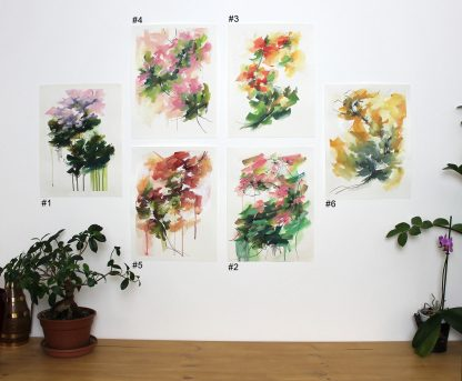 Collection-Jardin secret, peinture contemporaine abstraite de Vanessa Lim