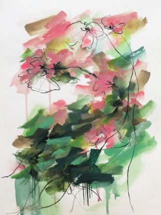 Collection-Jardin secret-Peinture 2, peinture contemporaine abstraite de Vanessa Lim