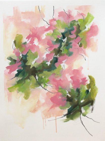 Collection-Jardin secret-Peinture 4, peinture contemporaine abstraite de Vanessa Lim