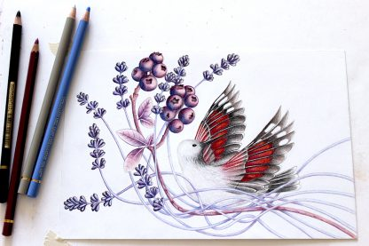 Quand tu tombes, illustration de Vanessa Lim