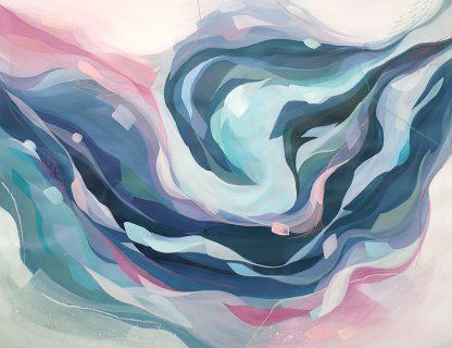 In the arms of an angel, peinture contemporaine abstraite de Vanessa Lim