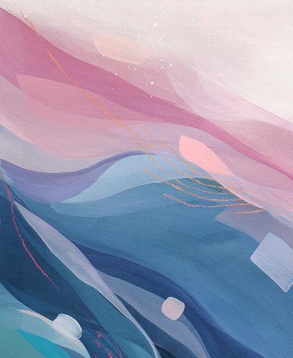 In the arms of an angel (détail), peinture contemporaine abstraite de Vanessa Lim