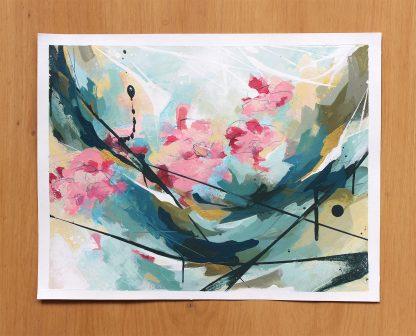 Souvenir d'enfance, peinture contemporaine abstraite de Vanessa Lim