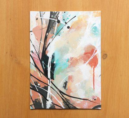 Oh joy, peinture contemporaine abstraite de Vanessa Lim