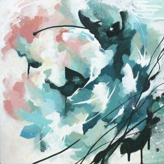 Nostalgie, peinture contemporaine abstraite de Vanessa Lim