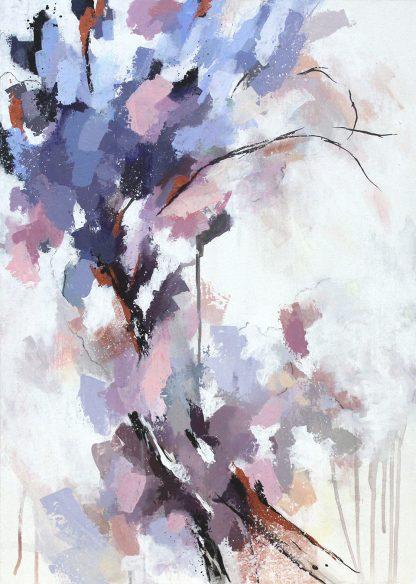 Douceur printanière, peinture contemporaine abstraite de Vanessa Lim
