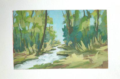 Jura (mini) - paysage à la gouache de Vanessa Lim