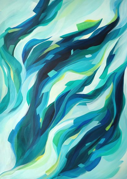 Don't fear yourself, peinture contemporaine abstraite de Vanessa Lim