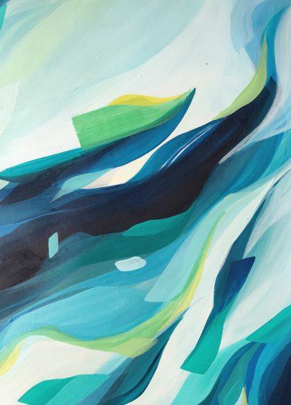 Don't fear yourself (détail), peinture contemporaine abstraite de Vanessa Lim