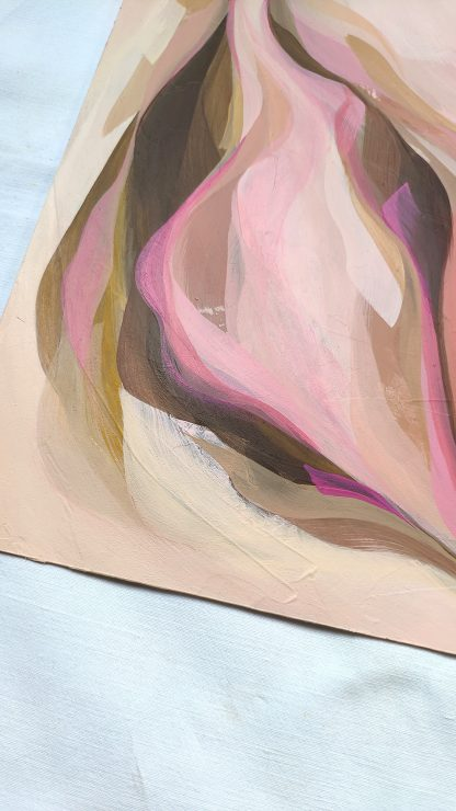 Choco framboise (détail), peinture abstraite par Vanessa Lim