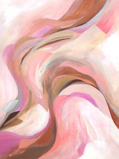 Retour aux sources, peinture abstraite par Vanessa Lim