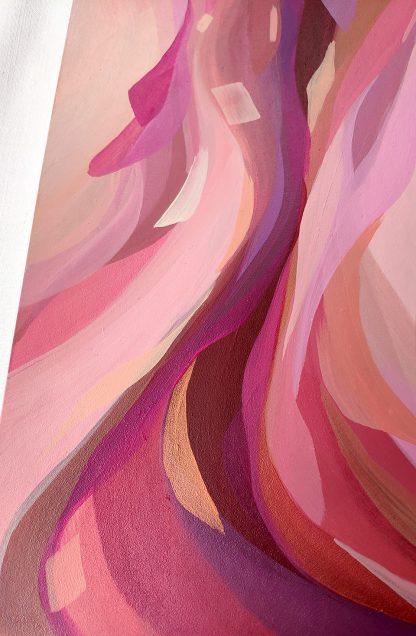 My home is in your arms (détail), peinture abstraite par Vanessa Lim