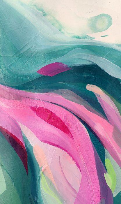 Wild thing (détail), peinture contemporaine abstraite de Vanessa Lim