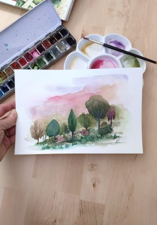 Enchanted woods n°6, paysage de Vanessa Lim