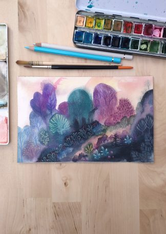Enchanted woods n°5, paysage de Vanessa Lim