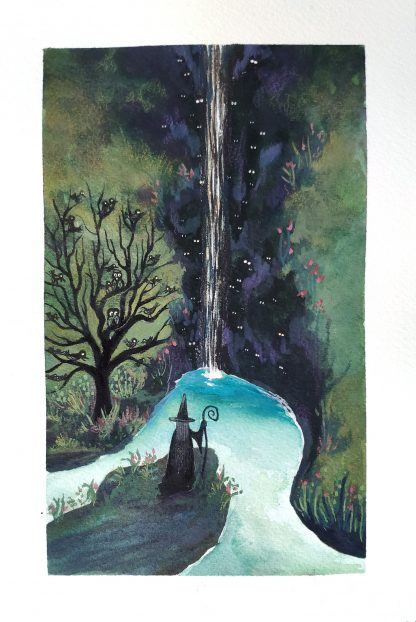 Les yeux de la cascade 2, illustration de Vanessa Lim