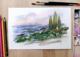 Le marais, paysage de Vanessa Lim
